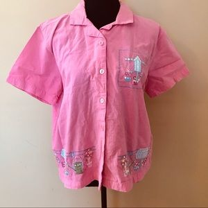 2/$20 Embroidered Embellished Button Down Size XL